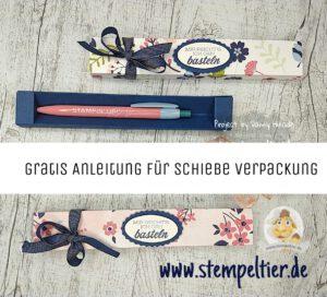 stampinup stiftverpackung anleitung maße gratis stempeltier papierblüten SAB