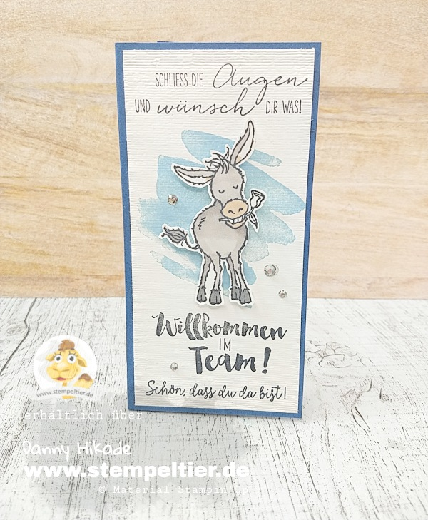 Stampin Up SAB Sale-A-Bration 2021 Esel Hufe donkey team