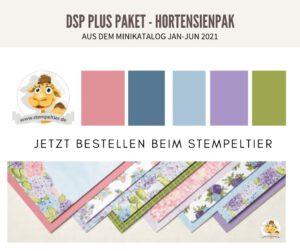 Stampin up Minikatalog 2021 materialpaket share DSP hortensienpark stempeltier