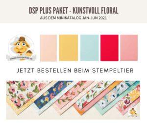 Stampin up minikatalog 2021 materialpaket kunstvoll floral dsp plus pakete stempeltier