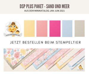 Stampin up minikatalog 2021 materialpaket sand und meer muscheln dsp plus pakete stempeltier