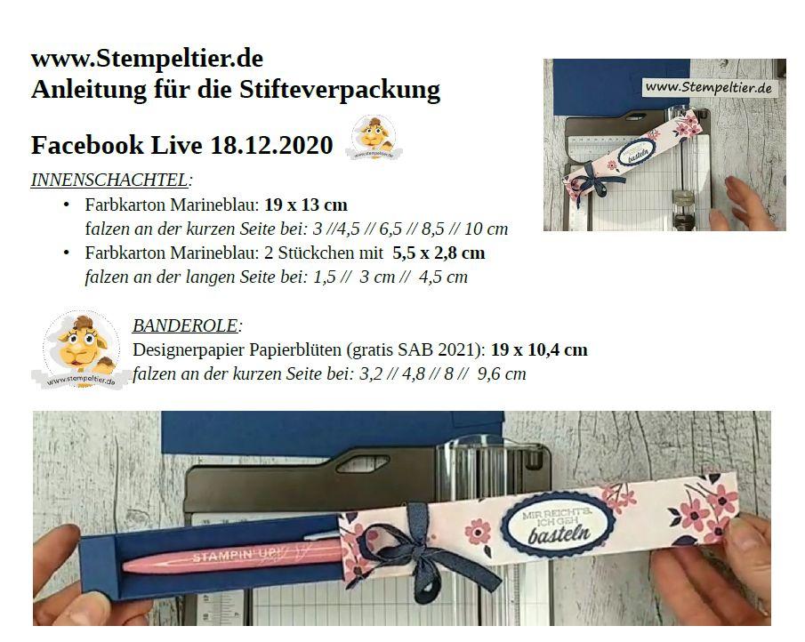 anleitung stempeltier stiftebox facebook live 18 12 2020