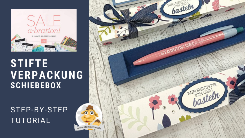 stampin up gratis anleitung saleabration SAB 2021 verpackung stift stempeltier