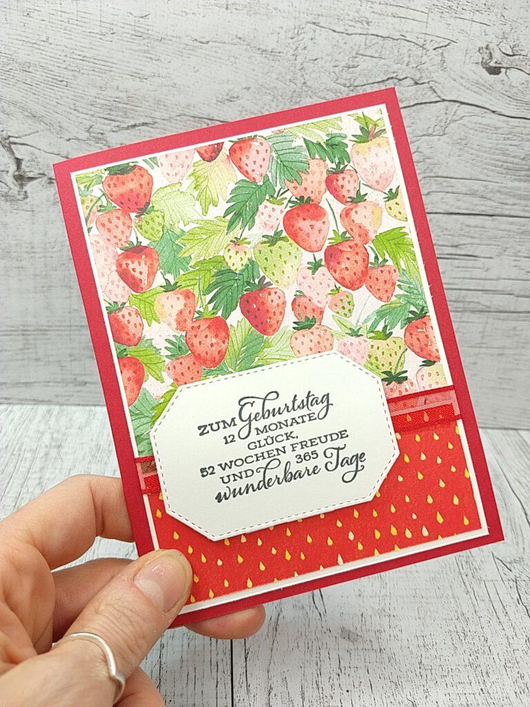 stampin up saleabration sommerbeeren fruchtige grüße erdbeeren