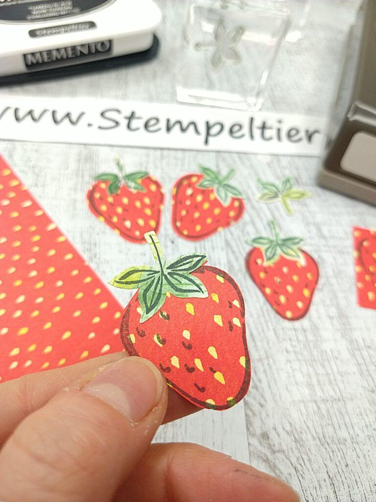 stampin up erdbeere strawberry sommerbeeren