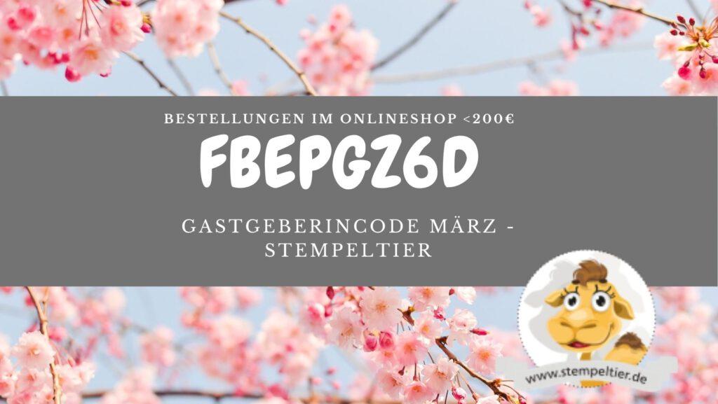 stampin up gastgebercode hostcode