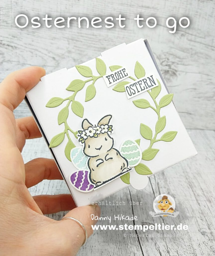 stampin up ostern verpackung hase osternest to go