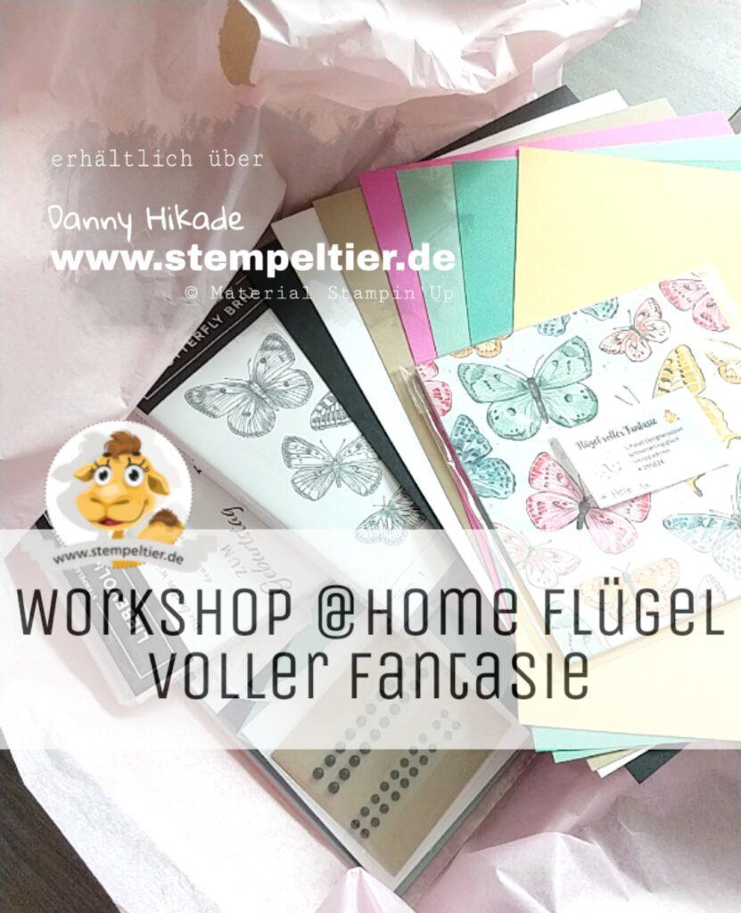 stampin up workshop to go at home stempeltier anleitung schmetterlinge