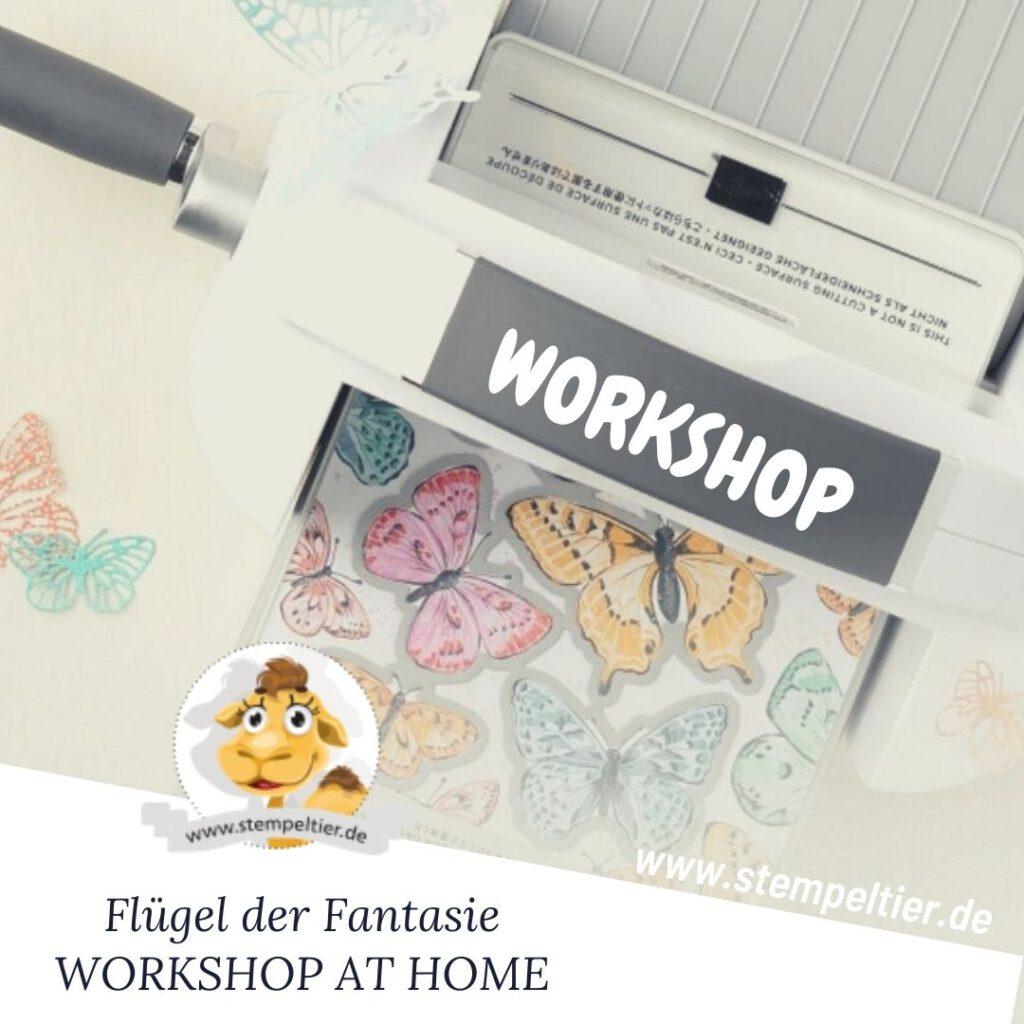 stampin up workshop at home flügel der fantasie schmetterlinge stempeltier
