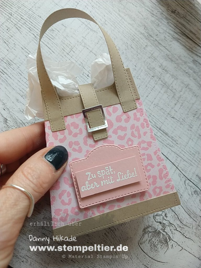 stampin up handtasche leo mustermix stempeltier