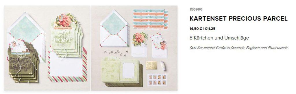 kartenset stampin up precious parcel kit