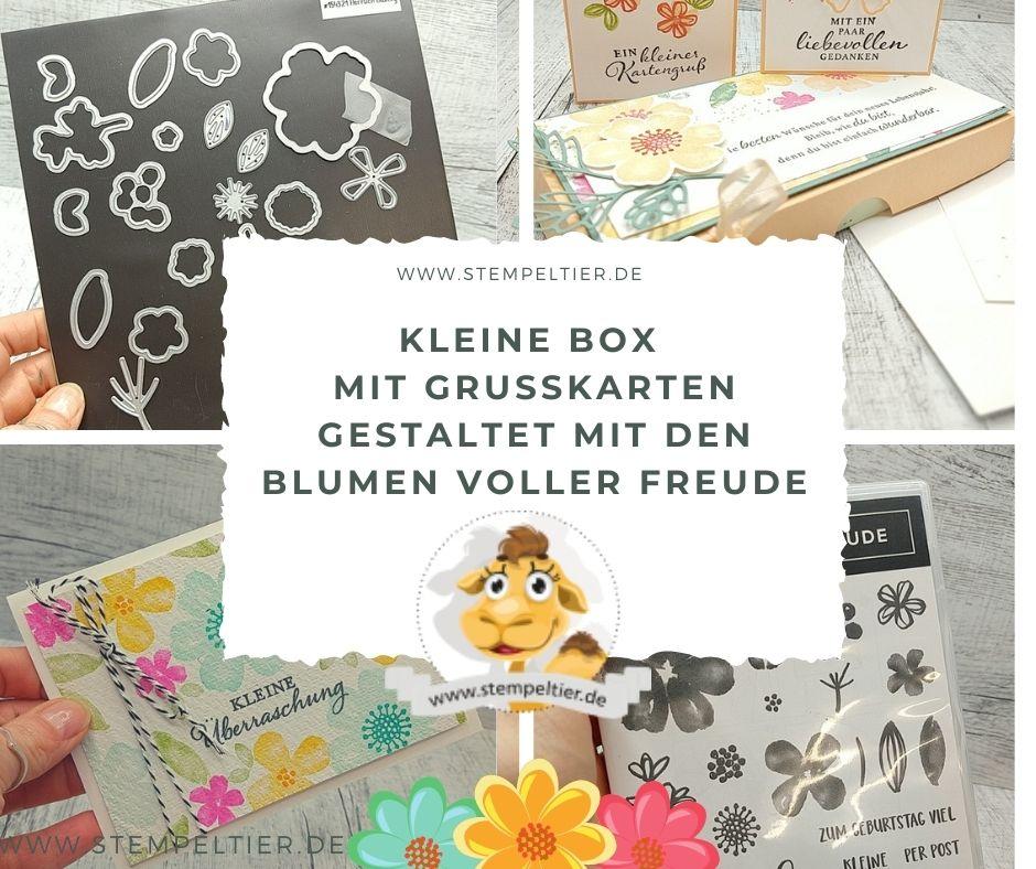 stampin up blumen voller freude ausverkauf anleitung verpackung box