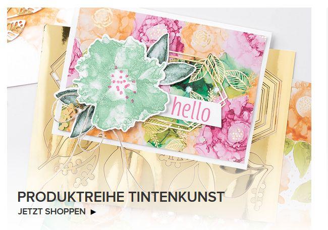 stampin up produktreihe tintenkunst koloriert