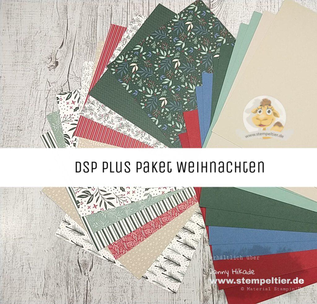 stampin up musterpaket dsp plus paket materialpaket wunderbar weihnachtlich stempeltier