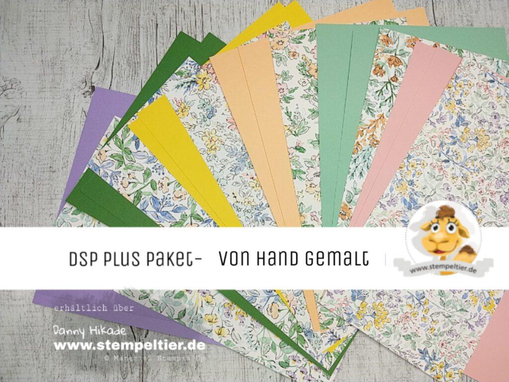 stampin up hand gemalt blüten jahreskatalogmusterpaket dsp plus paket materialpaket stempeltier