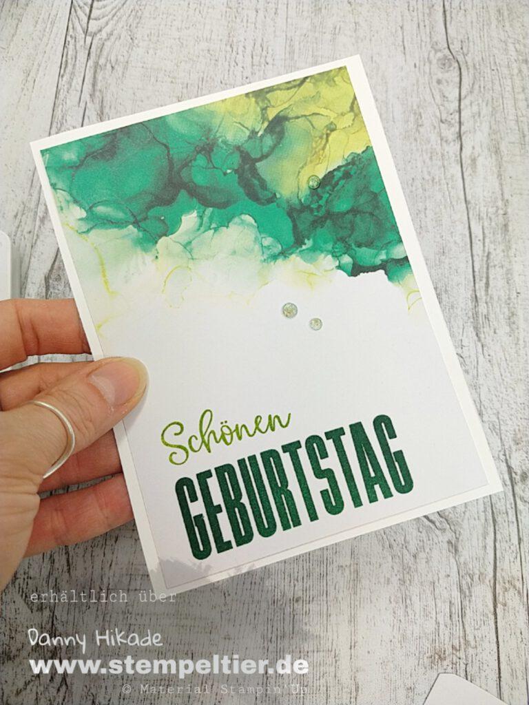 stampin up tintenkunst dsp stempeltier blog hop grosse wünsche