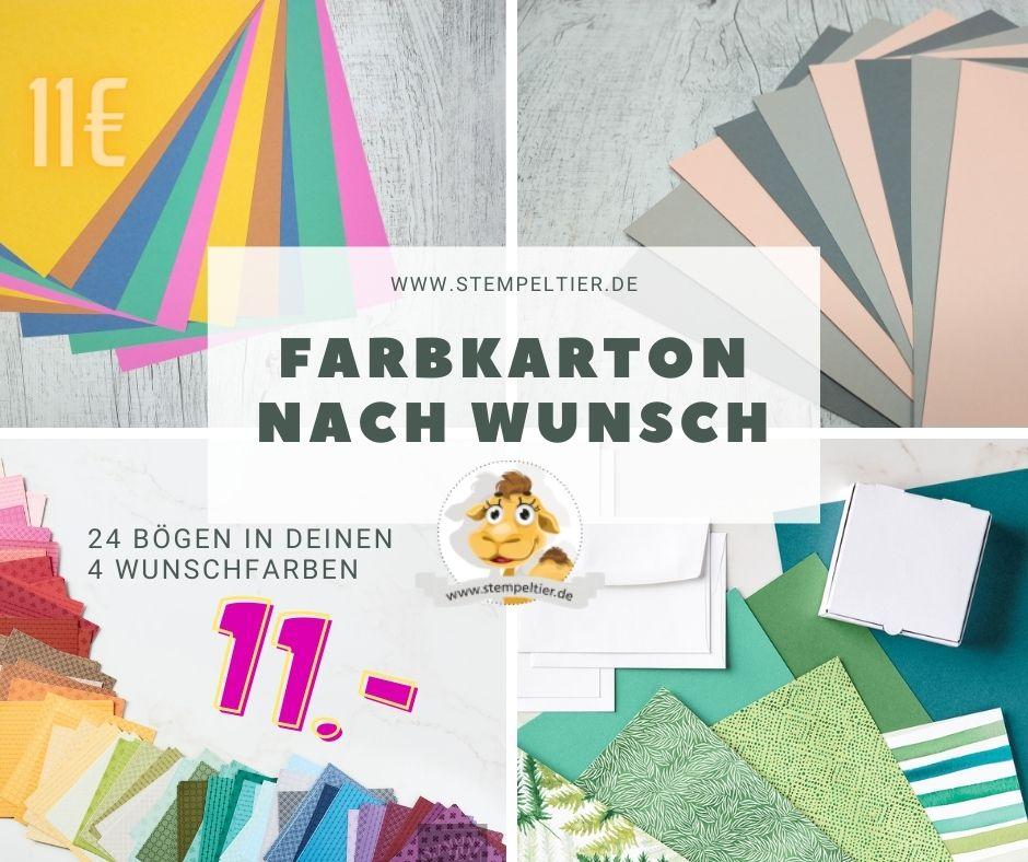 farbkarton nach wunsch stampin up mixpaket musterpaket papier