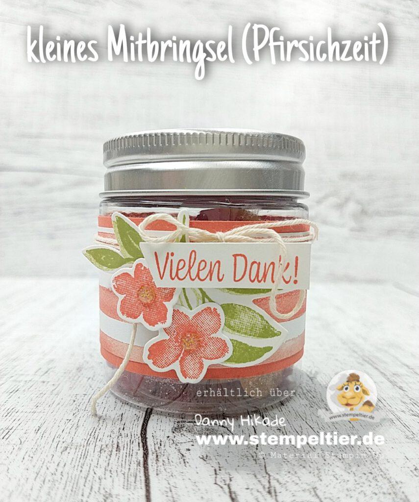 Stampin Up Pfirsichzeit Verpackung Gummibärchen Stempeltier