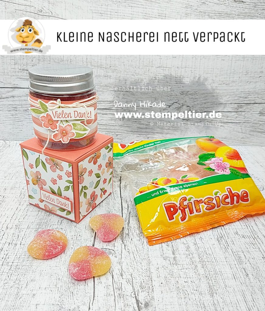 stampin Up Pfirsichzeit Marmeladengläser Verpackung