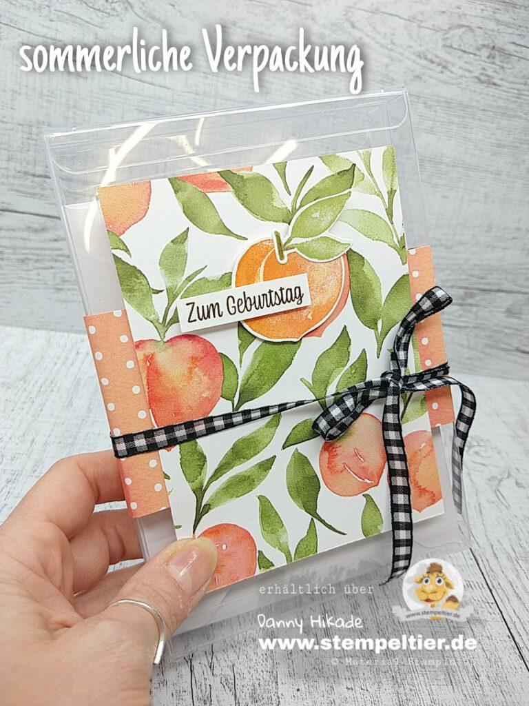 Stampin Up Pfirsichzeit Verpackung peach