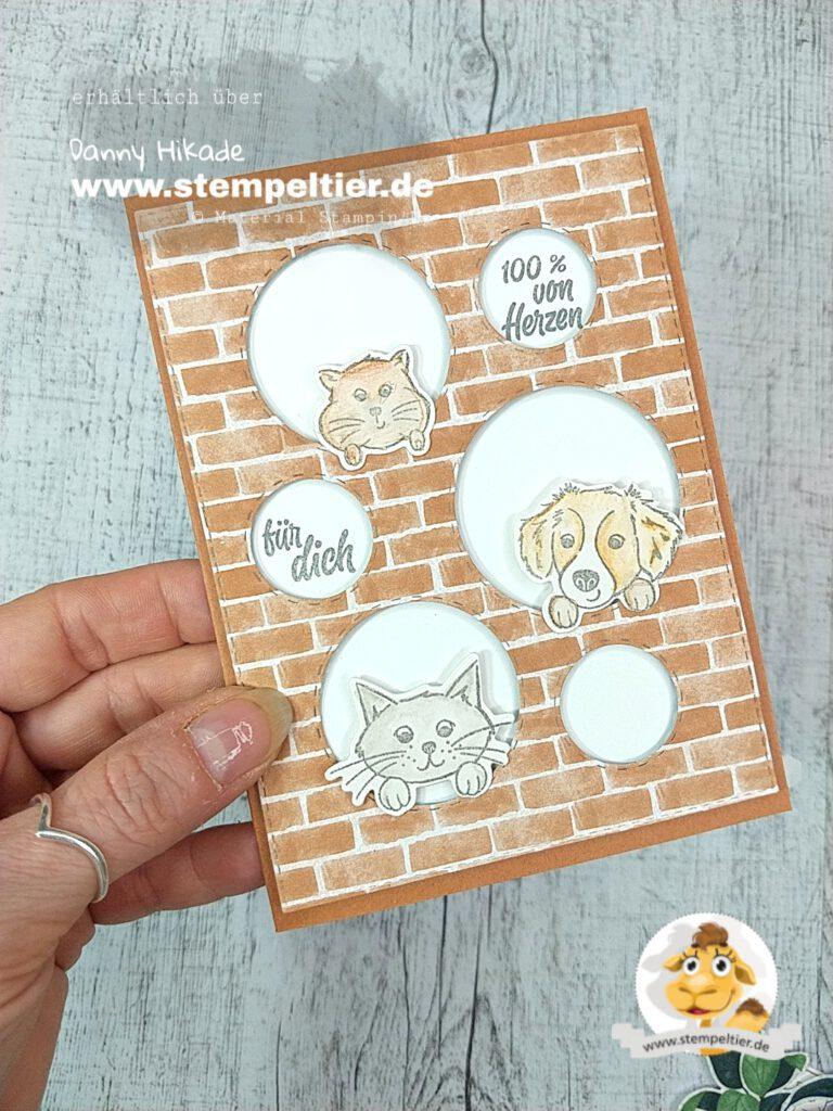 Stampin Up Weihnachten im Strumpf Karten Idee Stempeltier