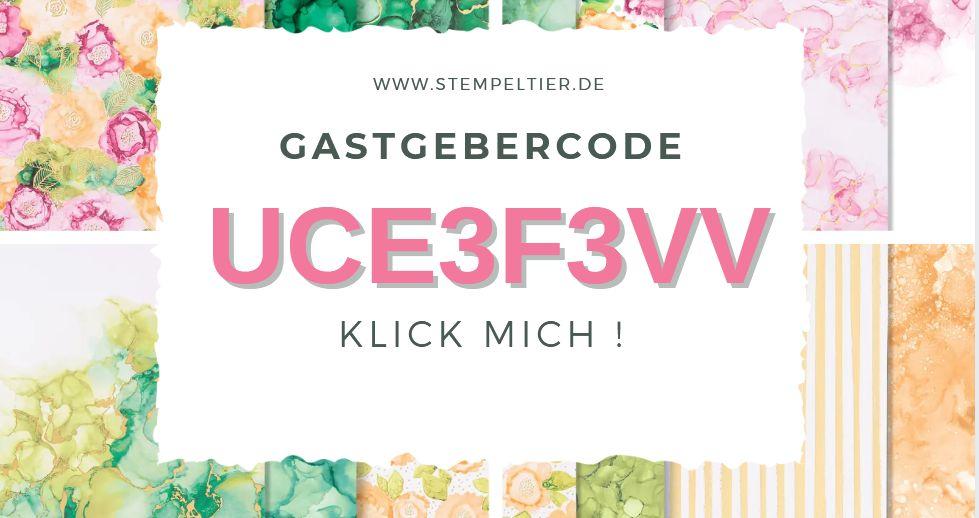 gastgebercode stampin up hostcode Juli 2021 stempeltier