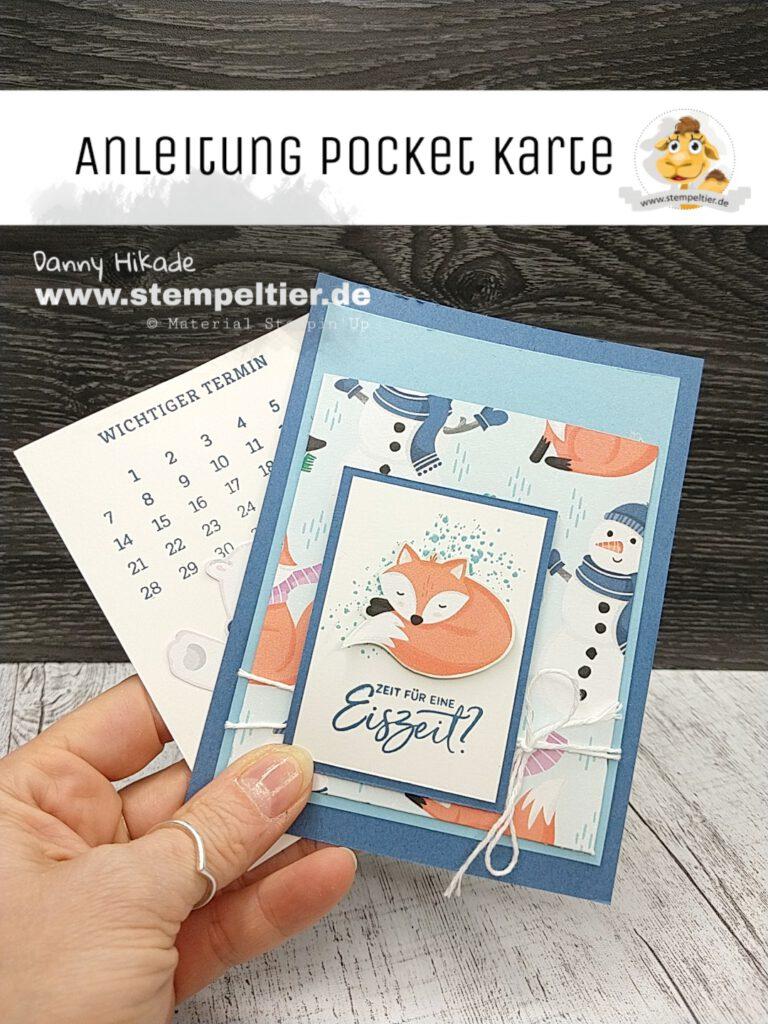 stampin up anleitung technikkarte pocketcard stempeltier pinguin