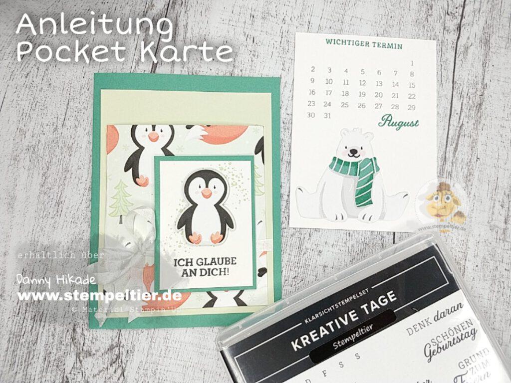 Stampin Up Anleitung Pocket Karte Technikkarte Stempeltier
