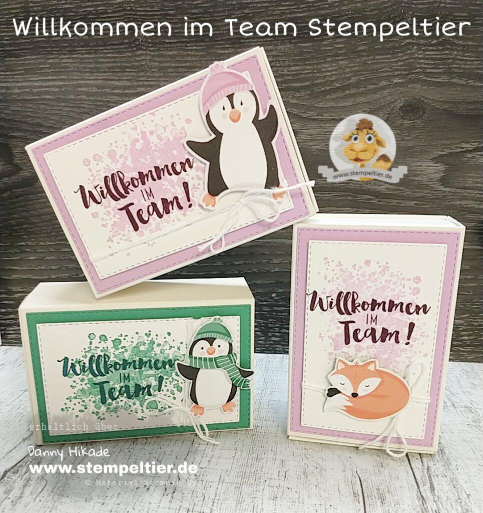 stampin up willkommen im team starterset leckereinschachtel pinguin und co stempeltier