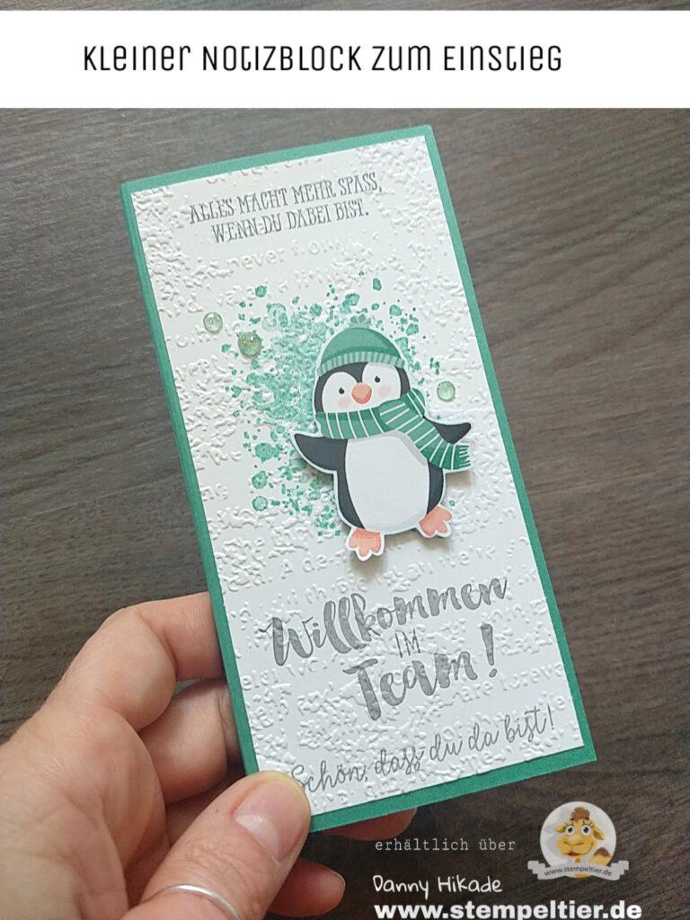 Stampin Up willkommen im Team Starterset Pinguin stempeltier