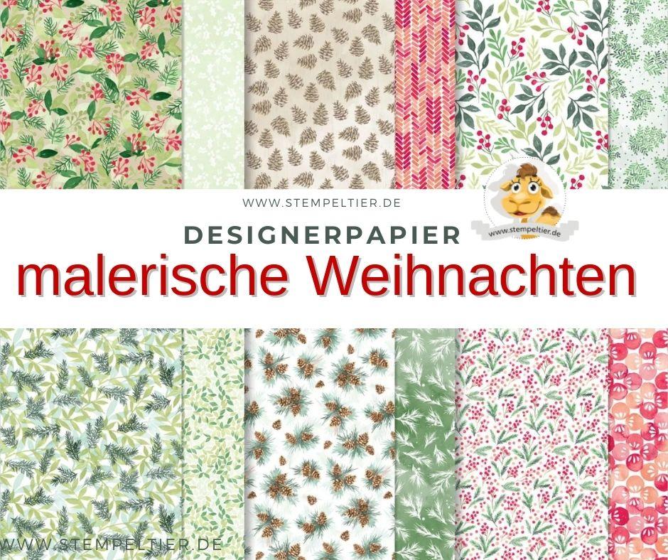 stampinup_Designerpapier malerische weihnachten winter 2021