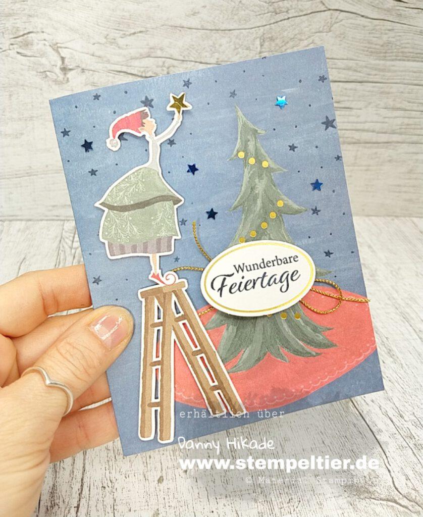 stampin up kartenkit verspielte weihnachten elfen wichtel
