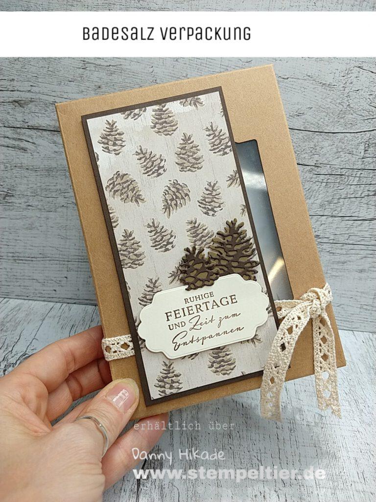 Stampin' Up Badesalz Verpackung stempeltier Weihnachten