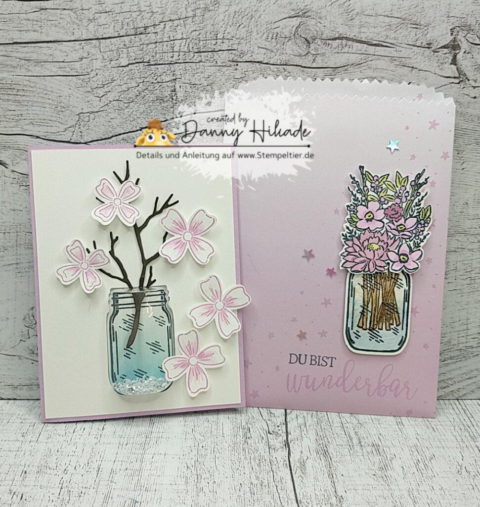 stampin up einmachglas jar of flowers freundschaftsblüten