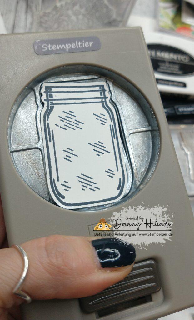 stampin up Einmachglas handstanze jar