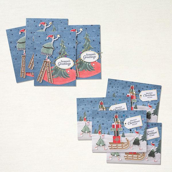 stampin up kartenset verspielte weihnachten kartenkit stempeltier