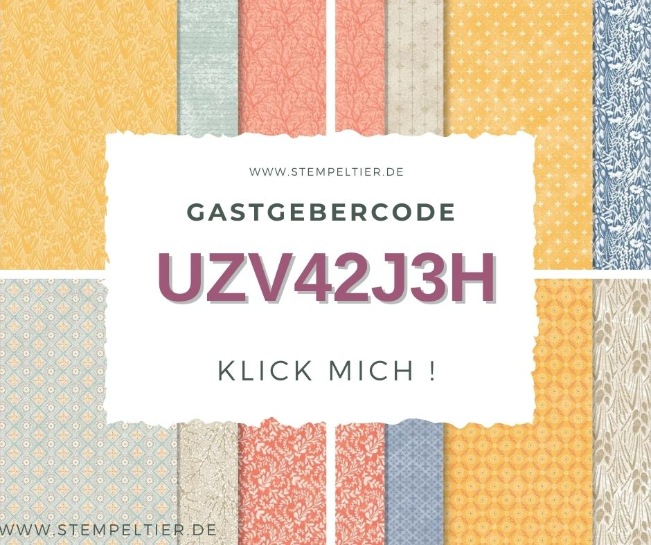 stampin up Gastgebercode september 2021