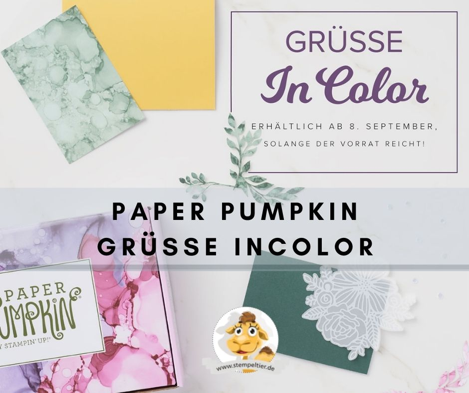 stampin up grüsse incolor paper pumpkin september 2021