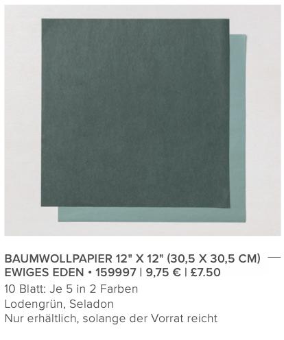 stampin up garten eden baumwollpapier stempeltier